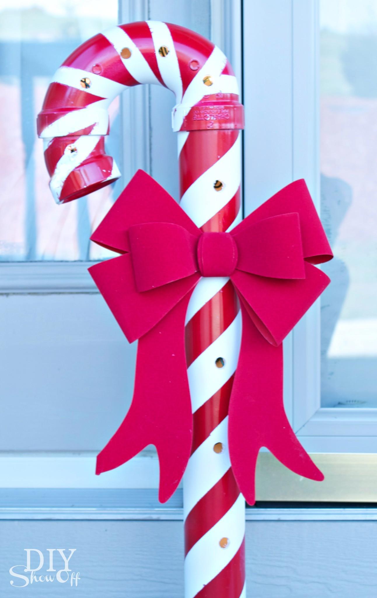 Candy Cane Christmas  Lighted PVC Candy Canes DIY Christmas Home Decor DIY