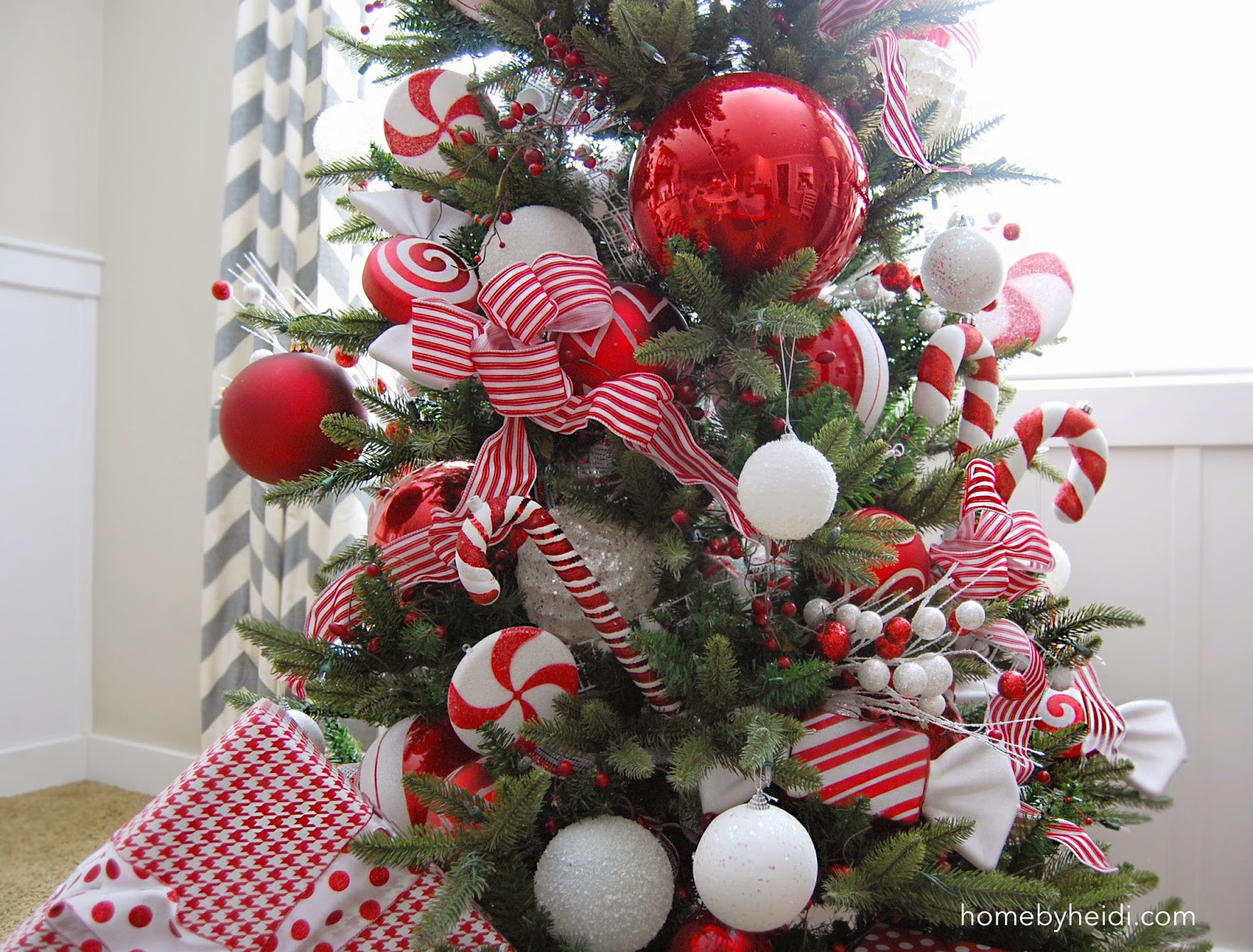 Candy Cane Christmas  Home By Heidi Candy Cane Christmas Tree