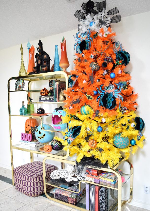 Candy Corn Christmas Tree  Halloween Home Tour Day 4 with Jennifer Perkins