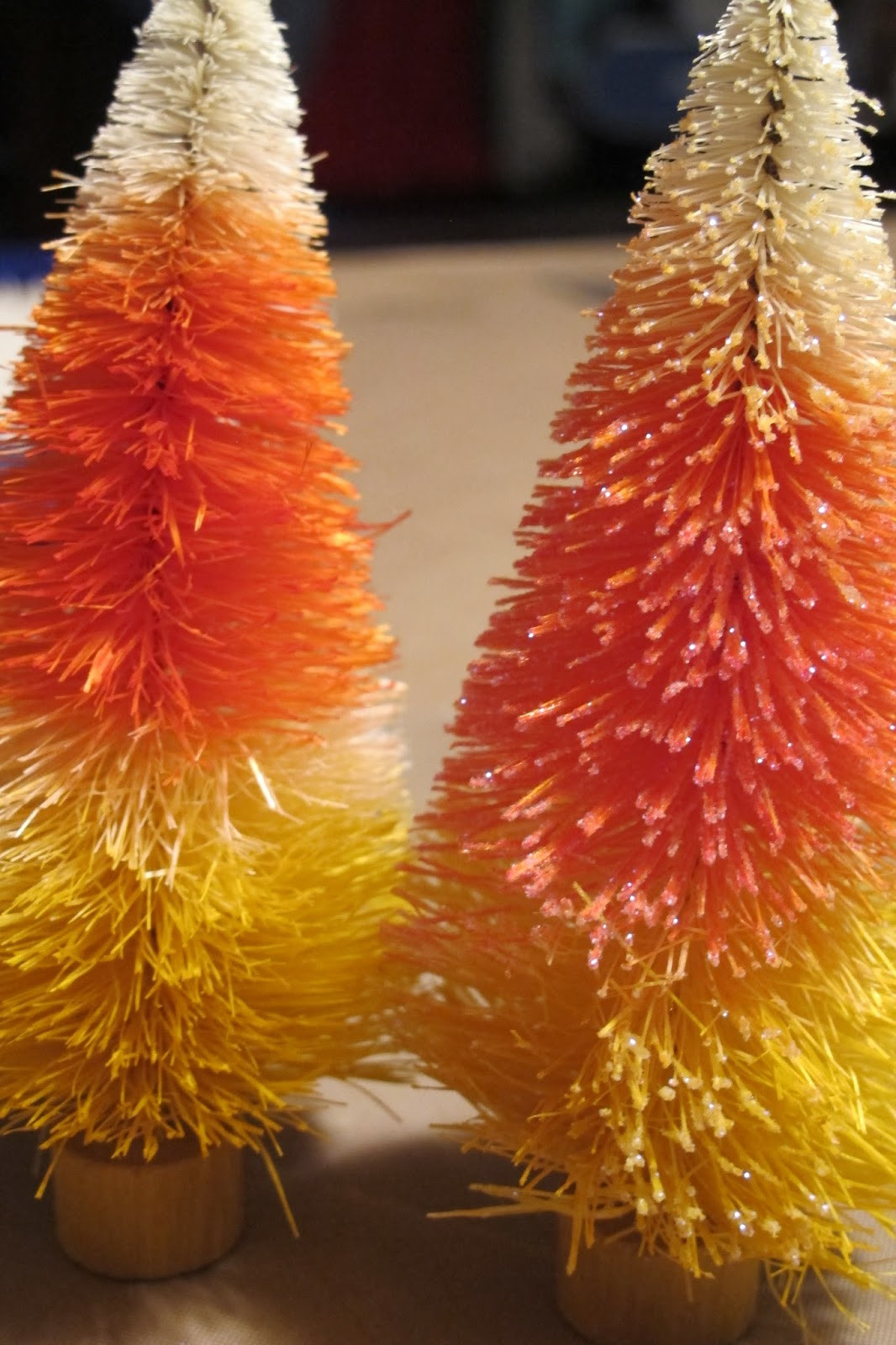 Candy Corn Christmas Tree  Crafting With Beau Candy Corn Trees Halloween Decor