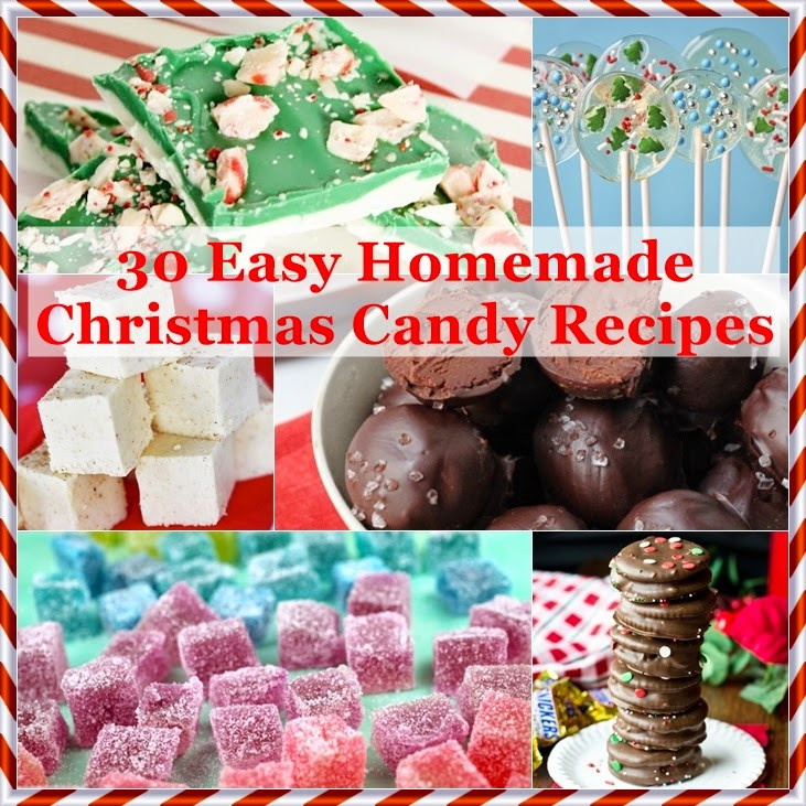 Candy Recipes For Christmas  The Domestic Curator 30 Easy Homemade Christmas Candy Recipes