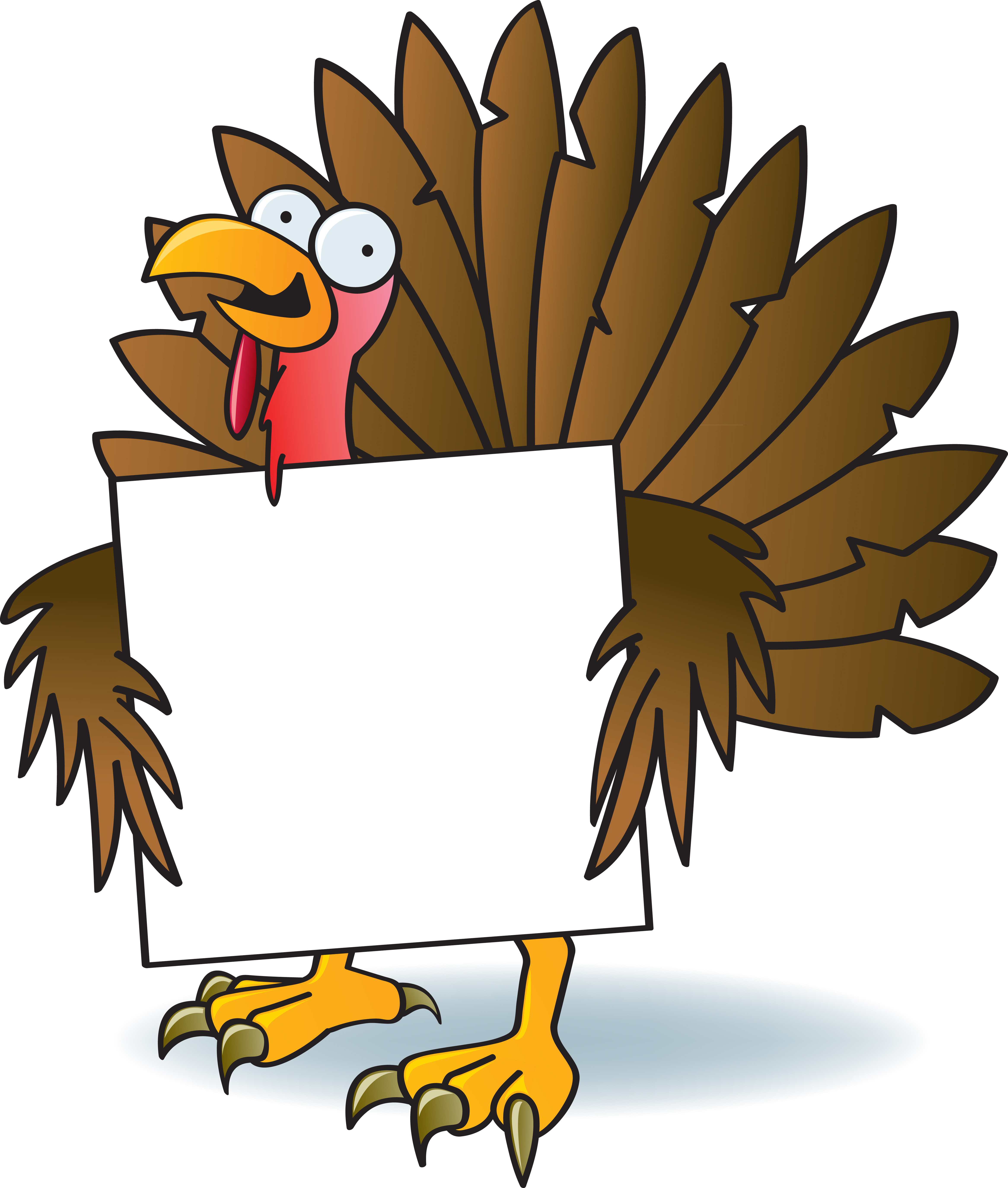 Cartoon Picture Of Turkey For Thanksgiving  Illustration Vector by Jamie Slavy at Coroflot