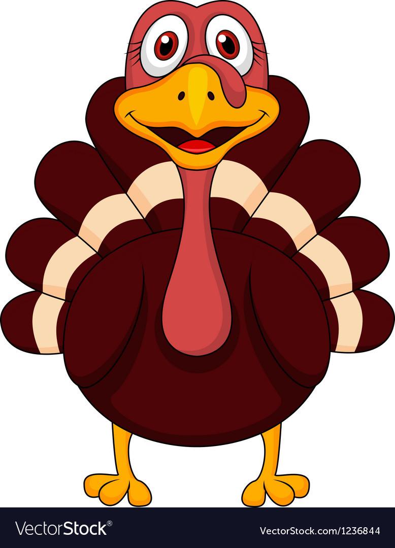 Cartoon Picture Of Turkey For Thanksgiving  Turkey cartoon Royalty Free Vector Image VectorStock