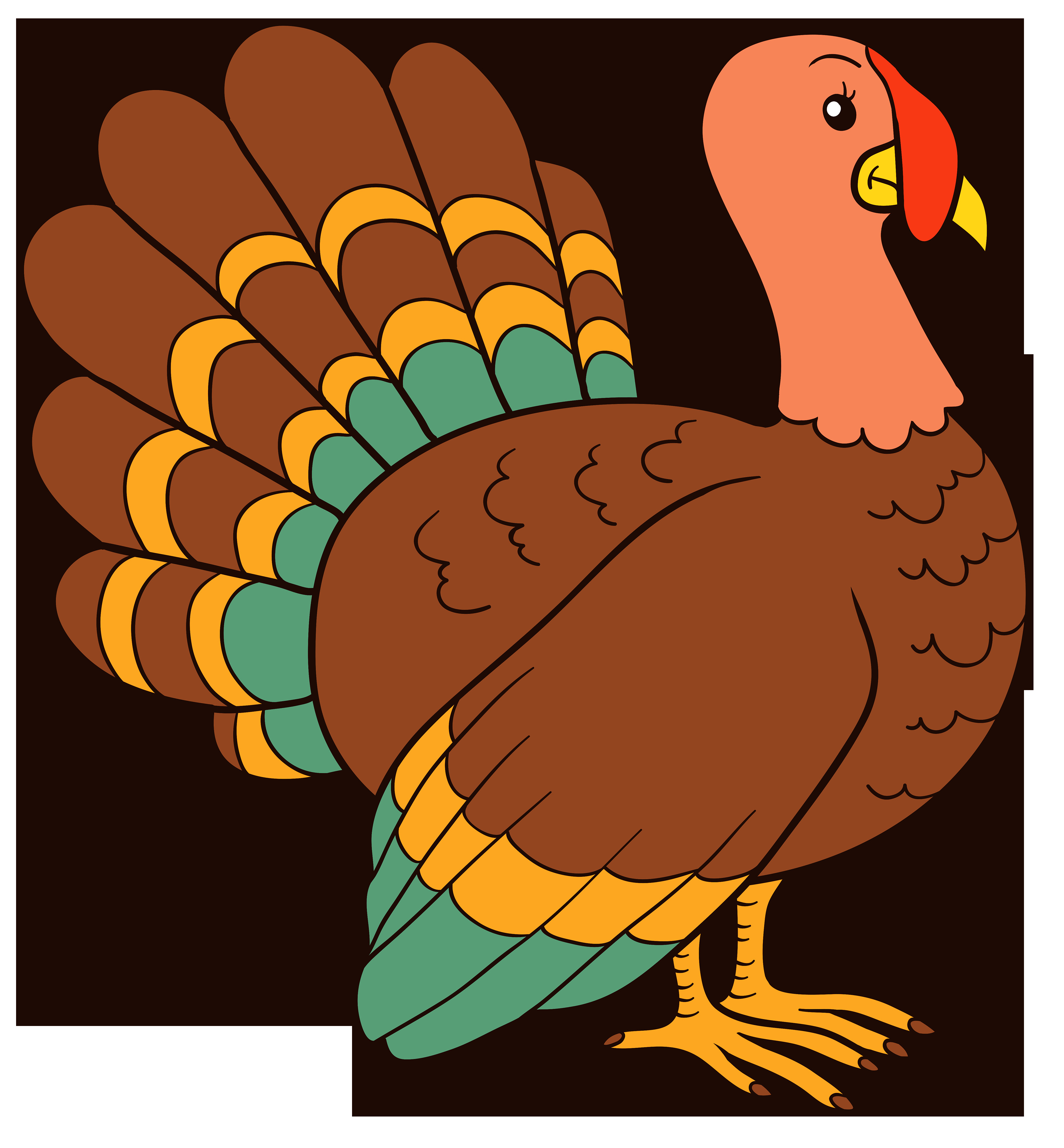 Cartoon Picture Of Turkey For Thanksgiving  Turkey PNG Clipart Image Best WEB Clipart