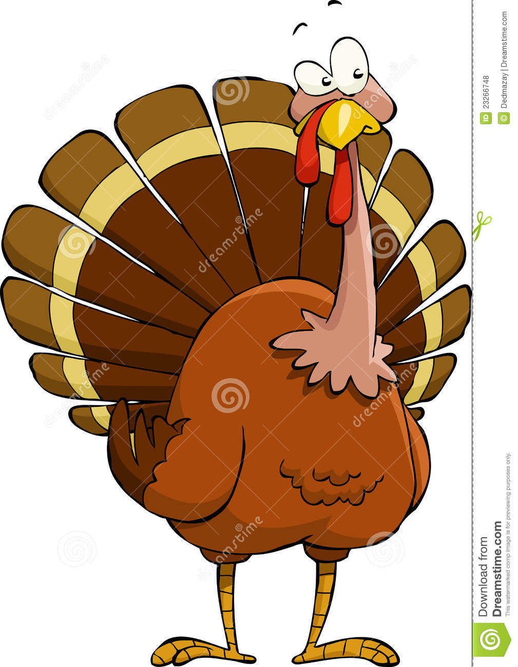 Cartoon Picture Of Turkey For Thanksgiving  Cartoon turkey stock vector Illustration of bird poultry