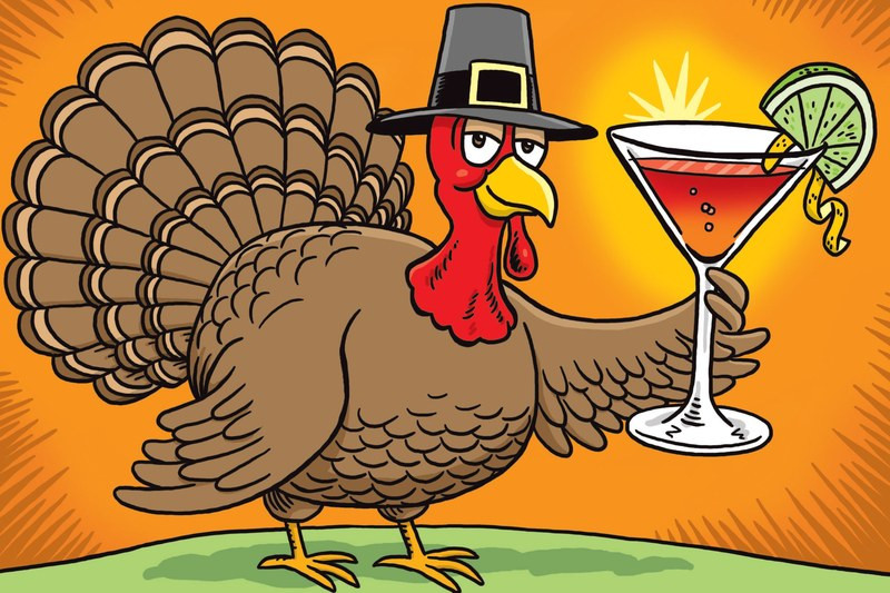 Cartoon Picture Of Turkey For Thanksgiving  What Bartenders Drink on Thanksgiving—Before During and
