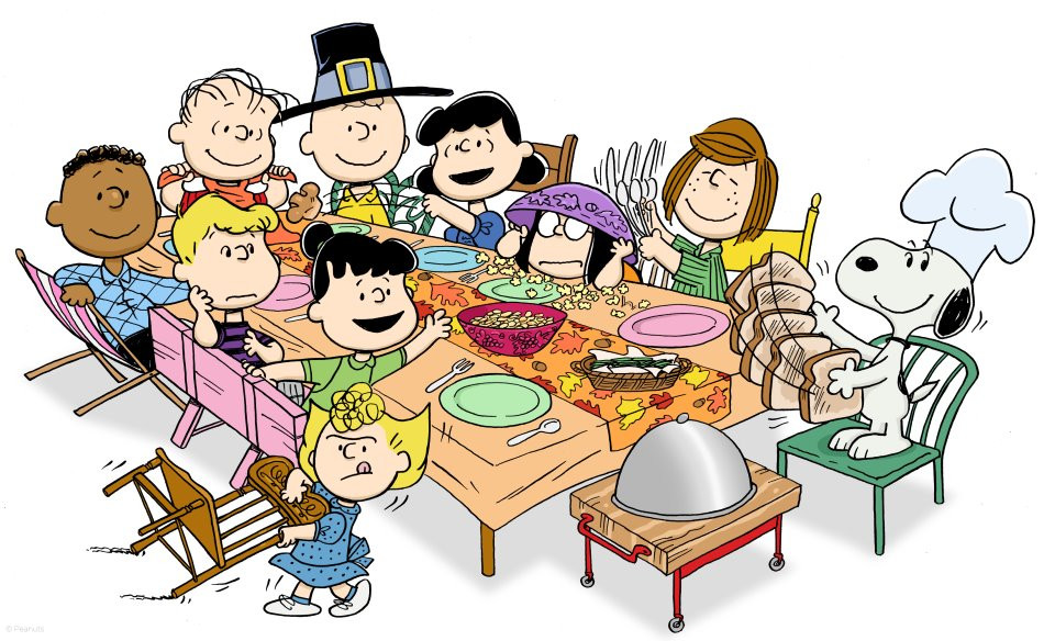 Charlie Brown Thanksgiving Dinner  I forgot to make dinner can I have some of yours