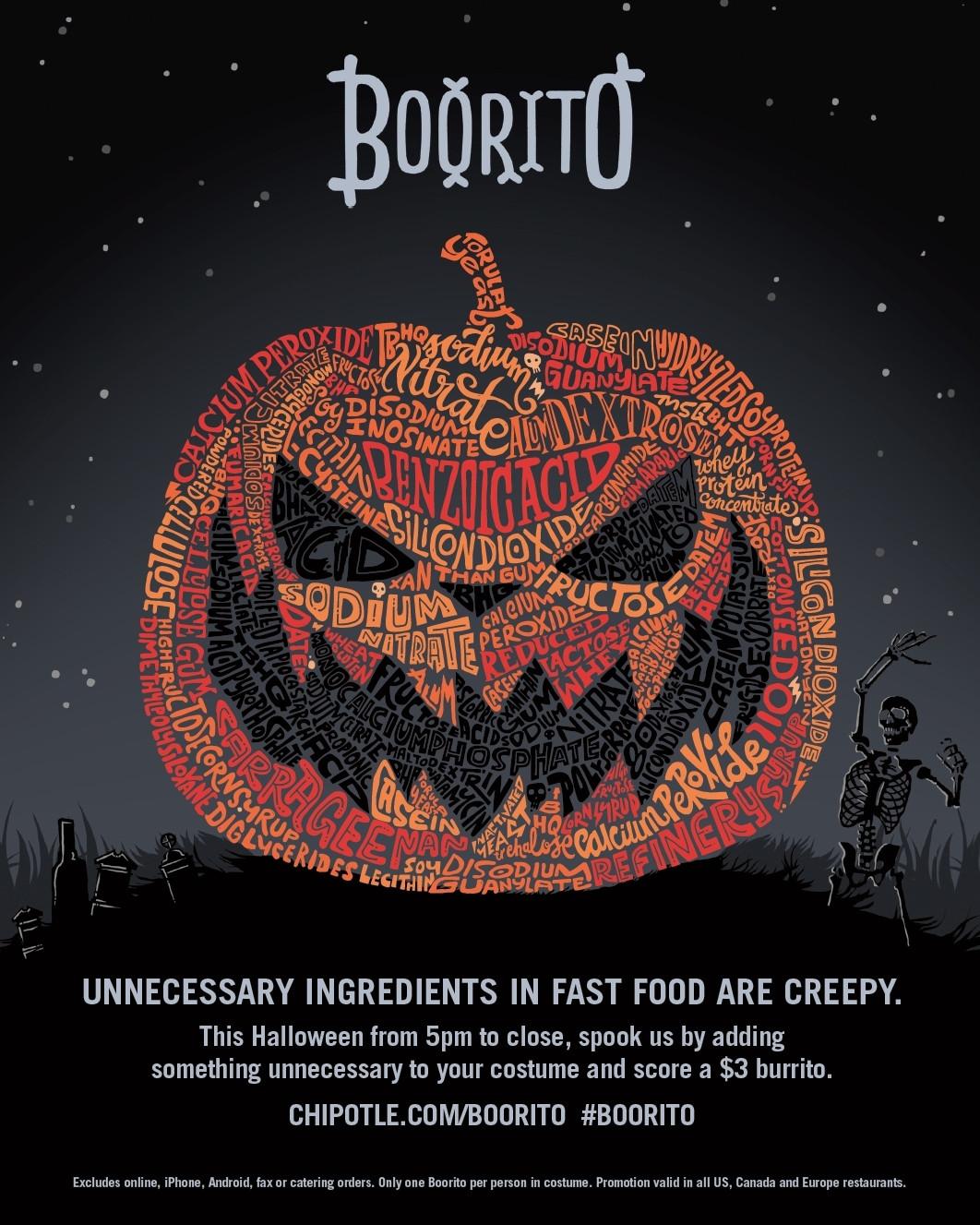 Chipotle 3 Dollar Burritos Halloween  Chipotle $3 Burrito on Halloween The Coupon Project