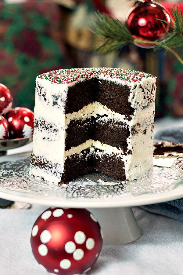 Chocolate Christmas Cake  158 best Vegan recipes desserts for one images on