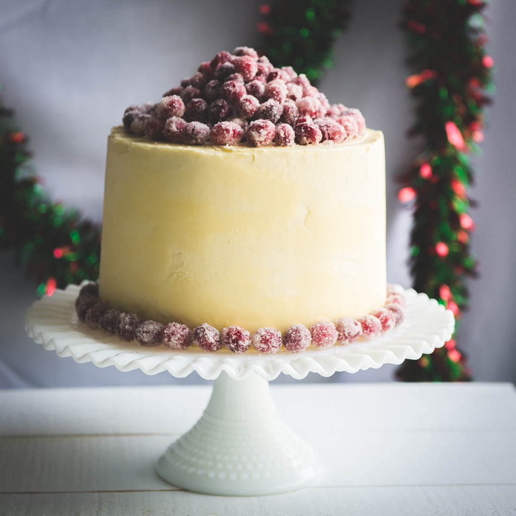 Chocolate Christmas Cake  Christmas White Chocolate Cranberry Layer Cake