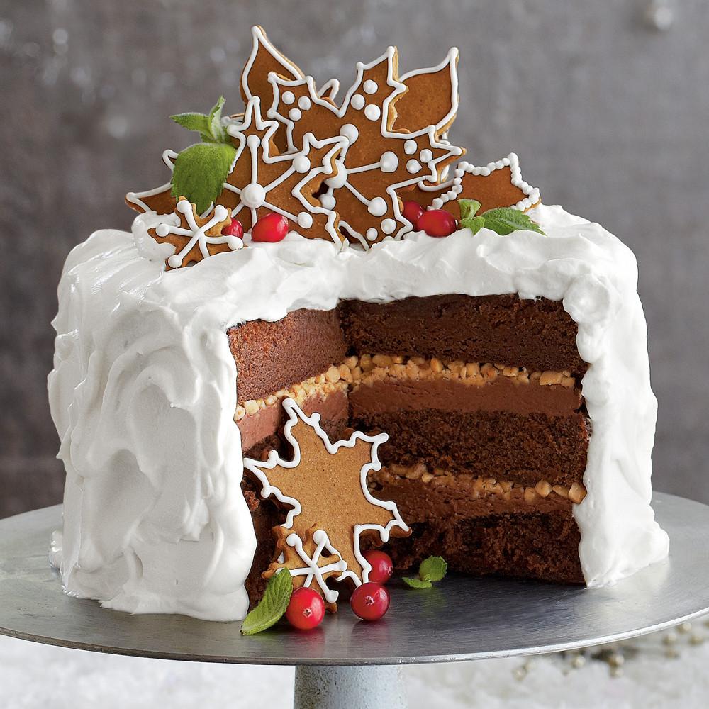 Chocolate Christmas Cake  Chocolate Gingerbread Toffee Cake Recipe