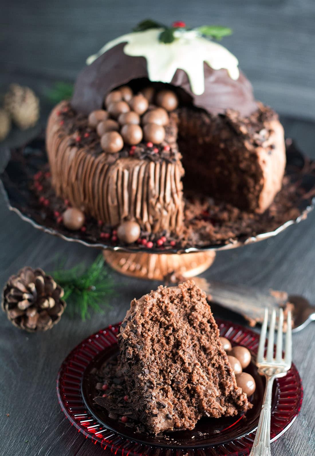 Chocolate Christmas Cake  Chocolate Christmas Smash Cake Smash it open to reveal