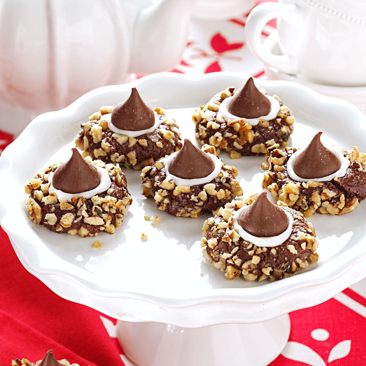 Chocolate Christmas Cookies Recipe  Chocolate Thumbprints Cookies Recipe