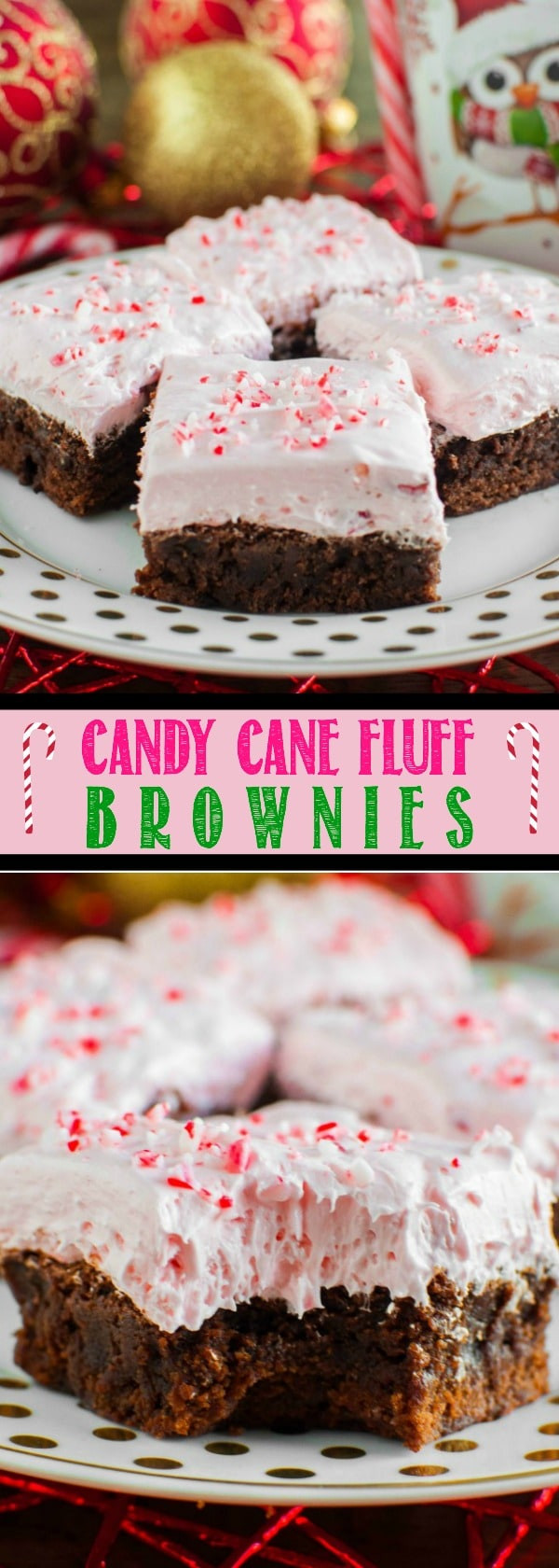 Chocolate Christmas Desserts Easy  Candy Cane Fluff Brownies Back for Seconds