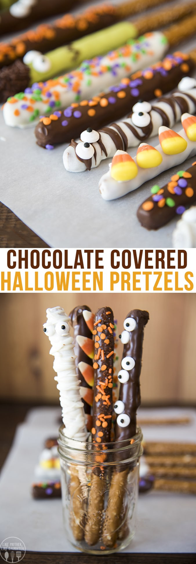 Chocolate Covered Pretzels Halloween  Chocolate Covered Halloween Pretzels – Like Mother Like