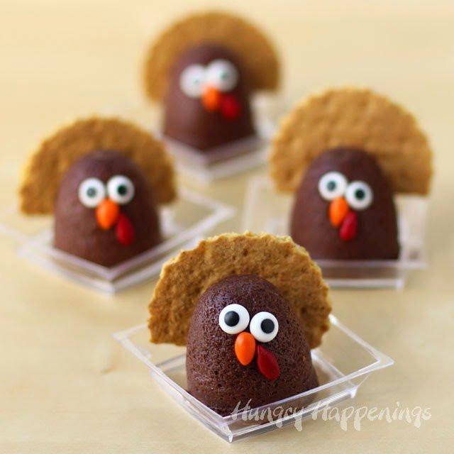 Chocolate Desserts For Thanksgiving  Mini Chocolate Cheesecake Turkeys Thanksgiving Desserts