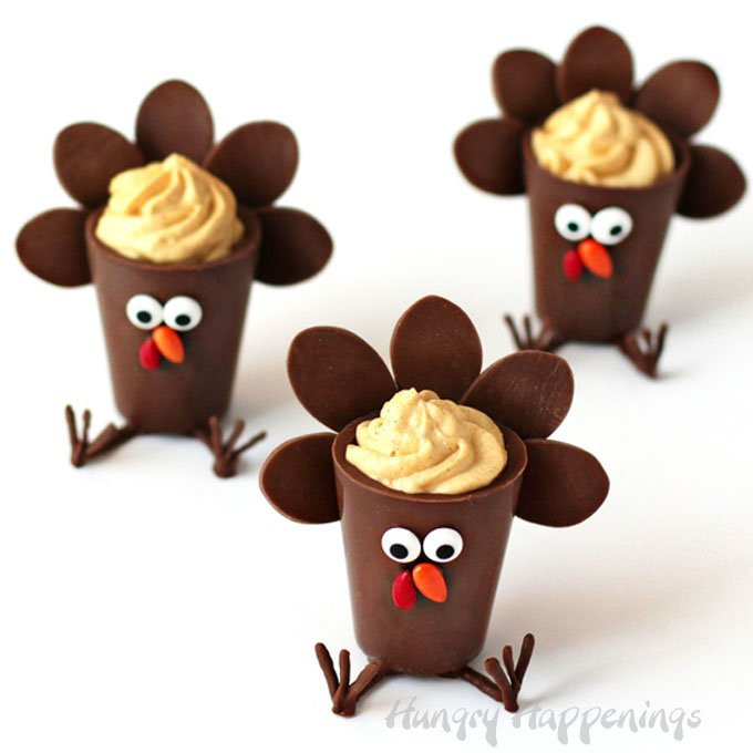 Chocolate Desserts For Thanksgiving  Chocolate Turkey Cups filled with Pumpkin Cheesecake Mousse