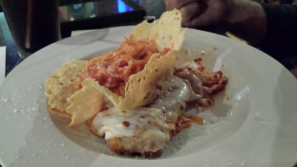Chowder House Cuyahoga Falls  Chicken parm with pasta nest in parm basket Yelp