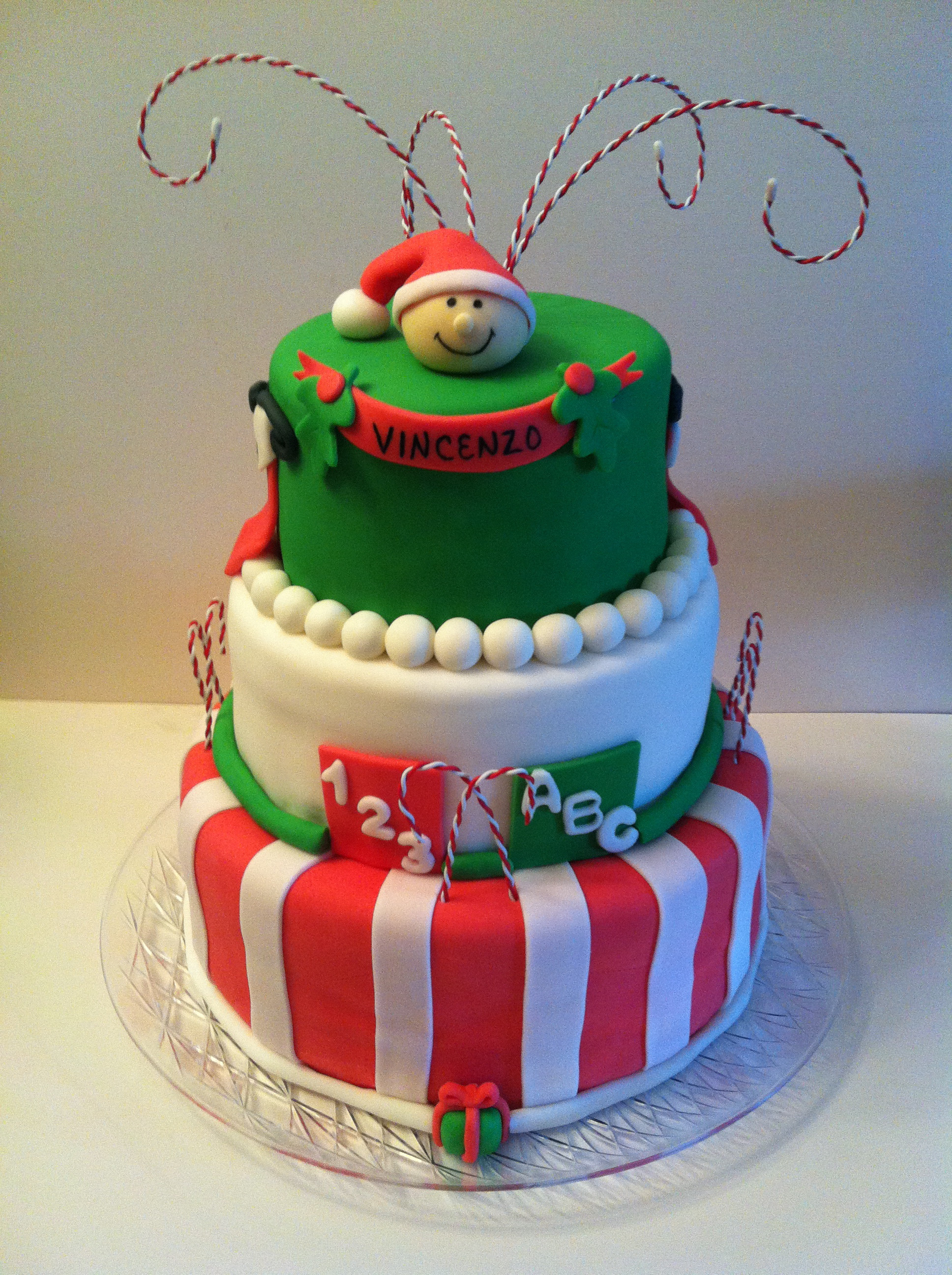 Christmas Baby Shower Cakes  3 tier