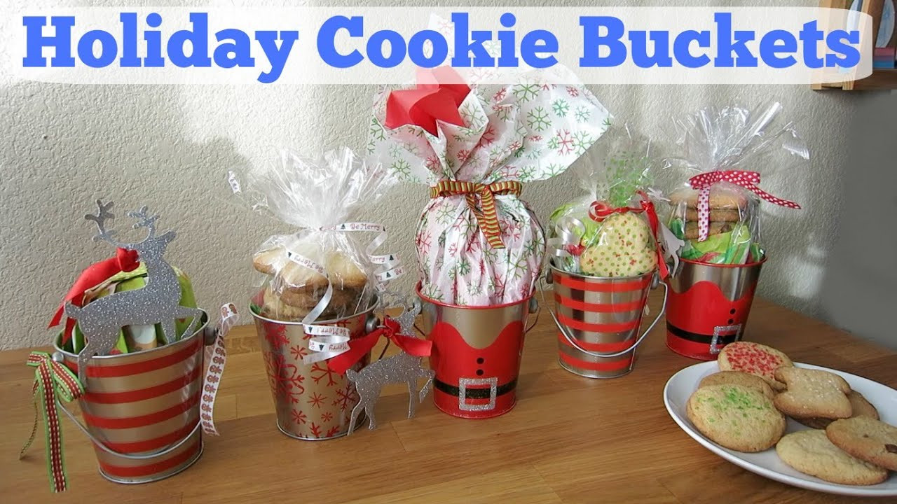 Christmas Baking Gift Ideas  DIY Holiday Cookie Buckets