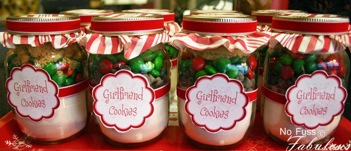 Christmas Baking Gifts  Christmas Girlfriend Cookies in a Jar Loralee Lewis