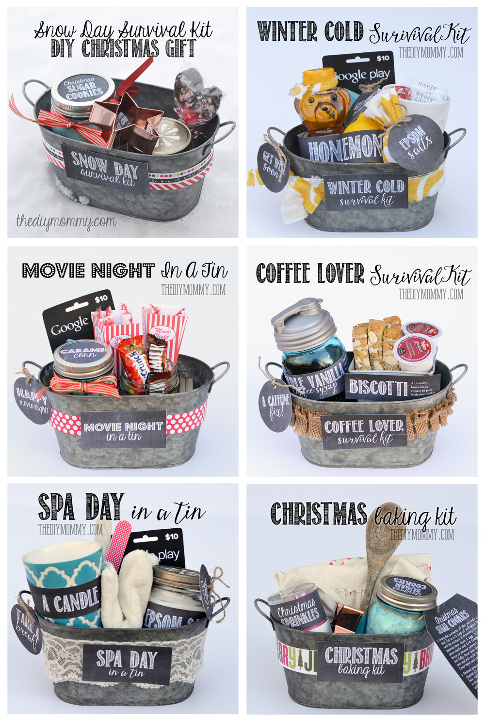 Christmas Baking Gifts  A Gift in a Tin Christmas Baking Kit