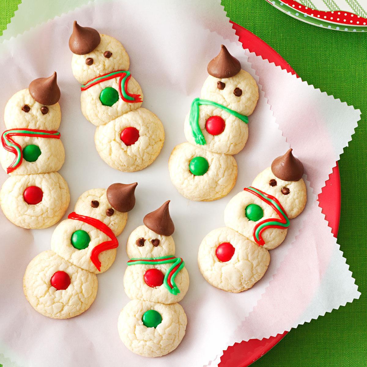 Christmas Baking Goods Recipes  Snowman Cookies Recipe