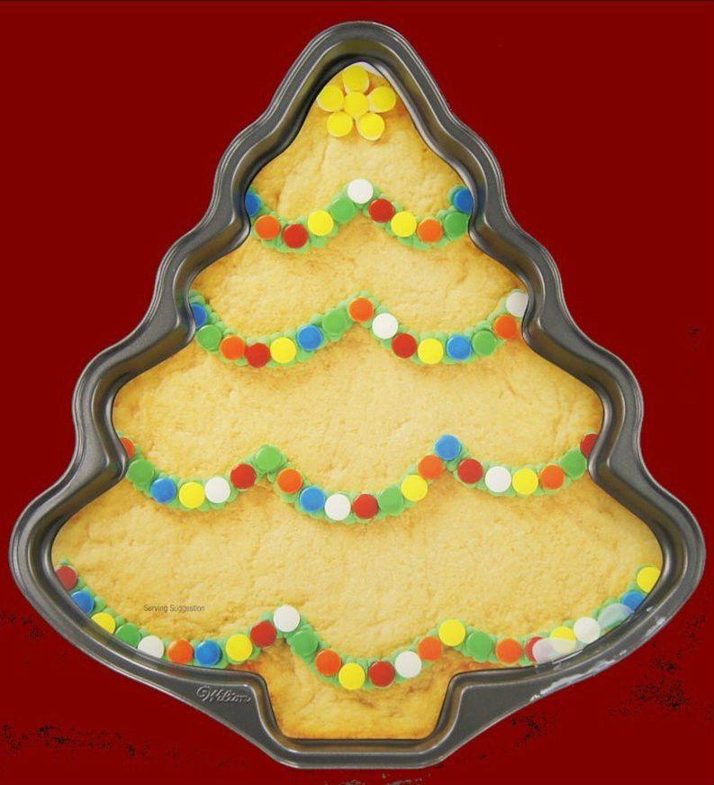 Christmas Baking Pans  Wilton CHRISTMAS TREE NON STICK COOKIE PAN 6229