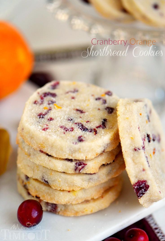 Christmas Baking Receipies  Cranberry Orange Shortbread Cookies Mom Timeout