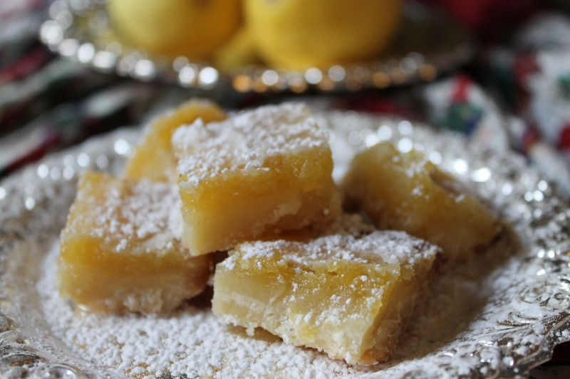 Christmas Baking Squares  Christmas Cookie Favorites Lemon Squares