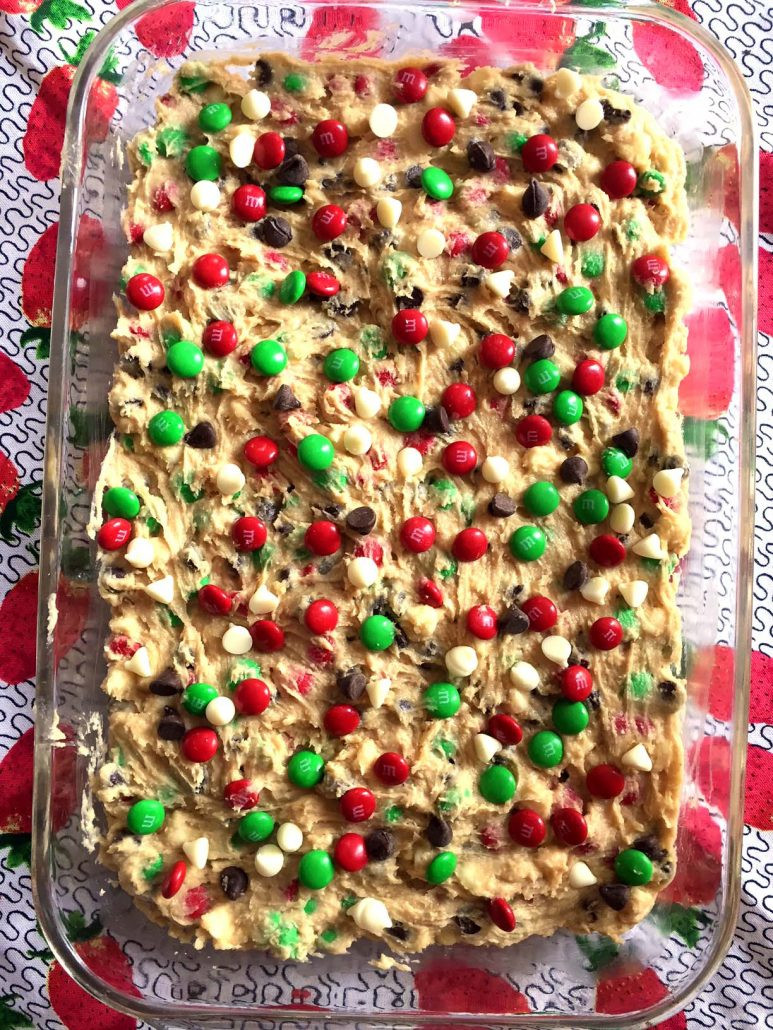 Christmas Baking Squares  Christmas M&M's Cookie Bars Squares Recipe – Melanie Cooks