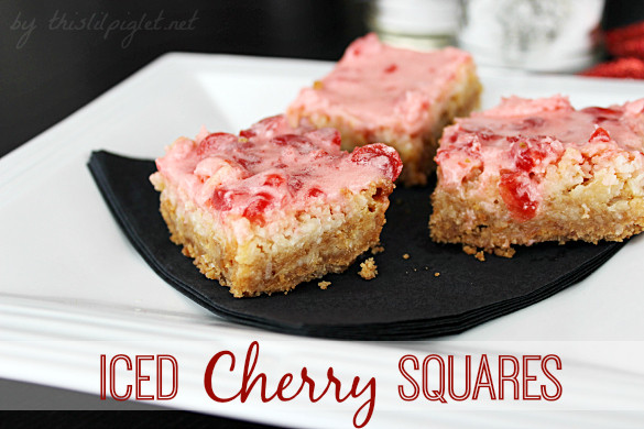 Christmas Baking Squares  Iced Cherry Squares Christmas Squares and Cookies This