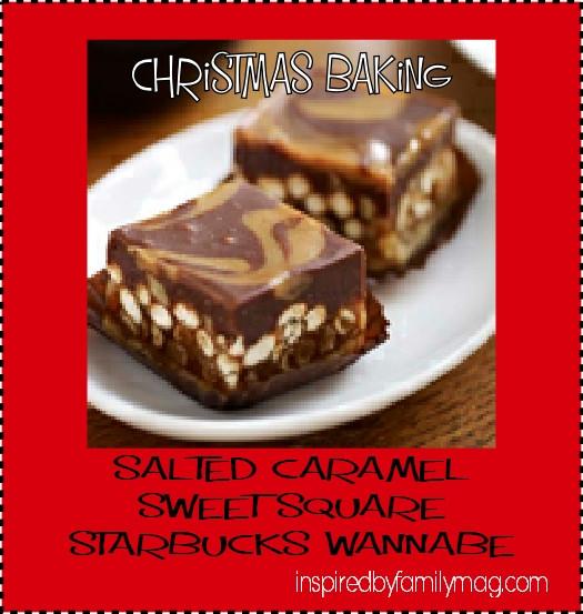 Christmas Baking Squares  Christmas Baking Salted Caramel Sweet Squares Starbucks