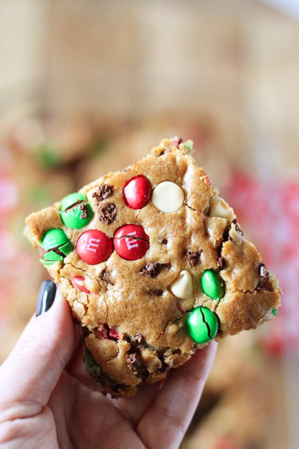 Christmas Bar Cookies Recipe  M&M S Christmas Cookie Bars No 2 Pencil