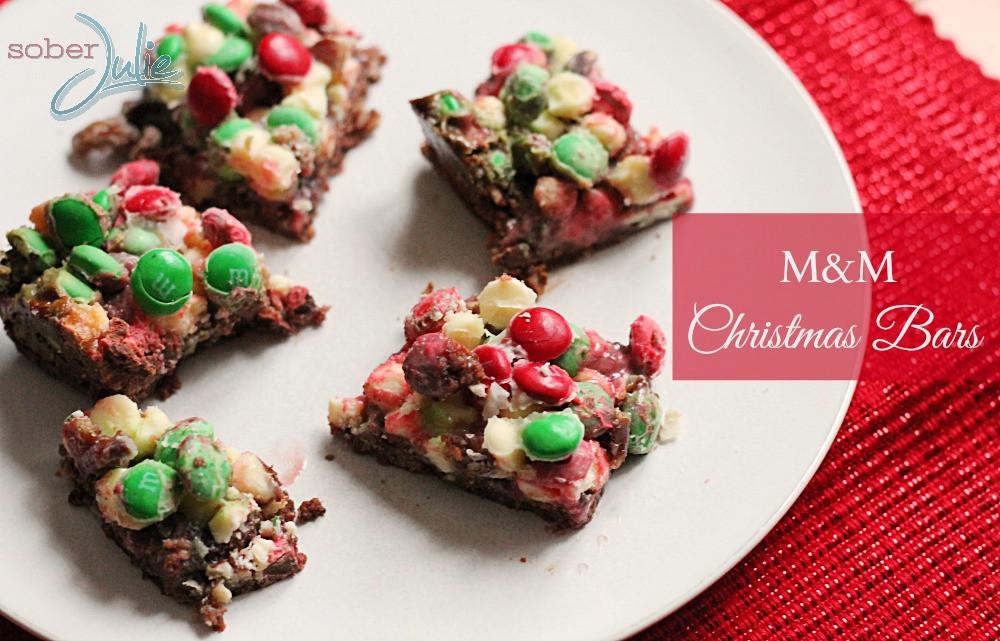 Christmas Bar Cookies Recipe  M&M Christmas Bar Recipe Christmas Cookie Week