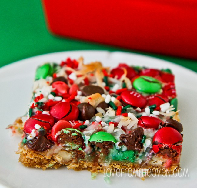 Christmas Bar Cookies Recipe  Christmas Magic Cookie Bars
