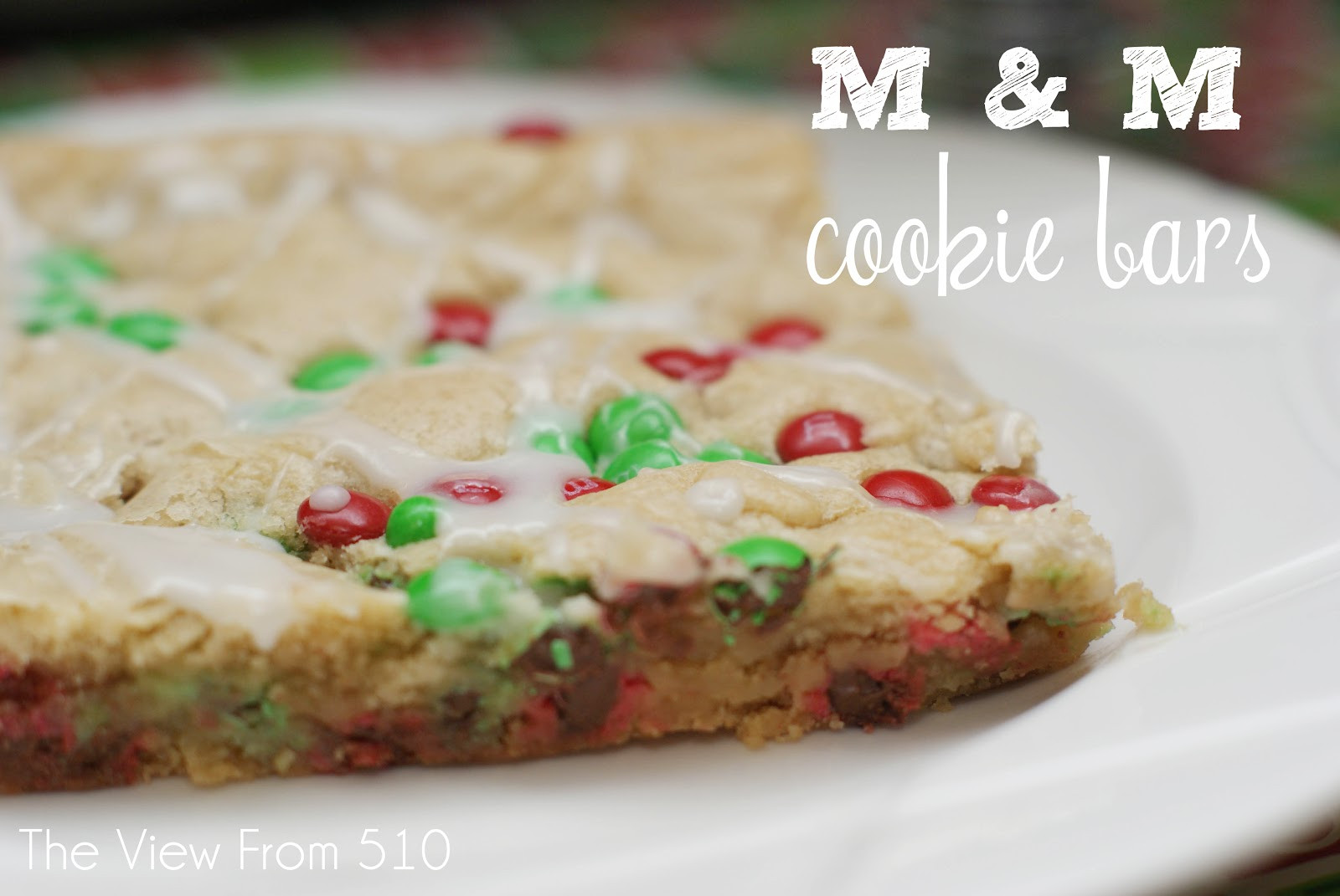 Christmas Bar Cookies Recipe  Christmas M&M Cookie Bars Wholehearted Finishing