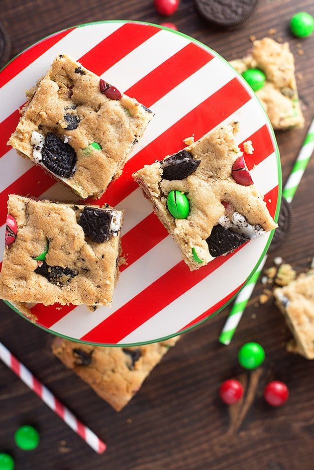 Christmas Bar Cookies Recipe  Peanut Butter Oreo Christmas Cookie Bars — Buns In My Oven