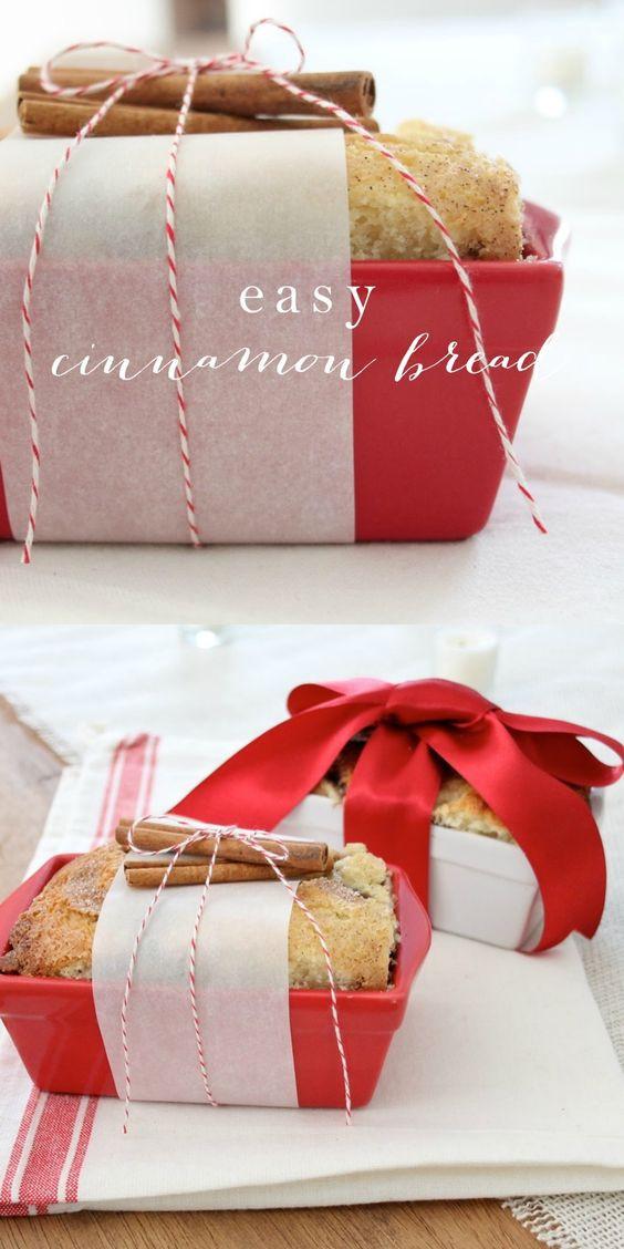 Christmas Bread Gifts  Christmas Gift Idea Easy Cinnamon Bread