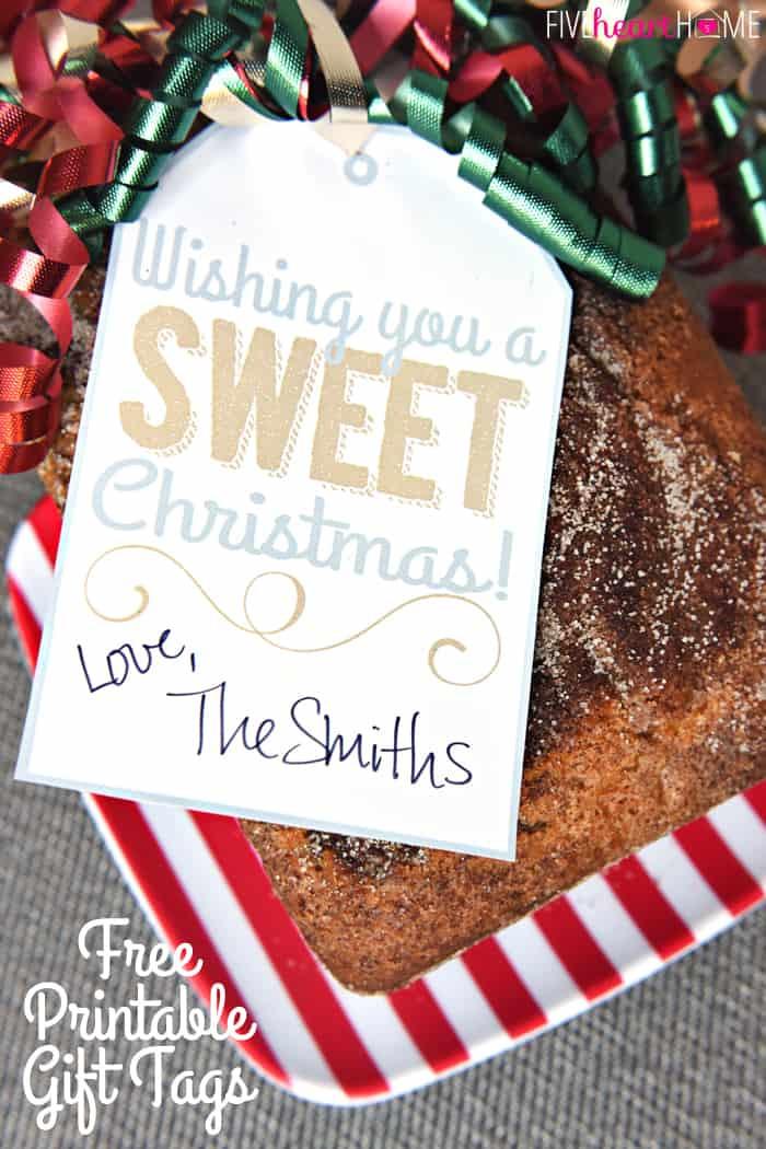 Christmas Bread Gifts  Cinnamon Bread No Yeast Quick Bread • FIVEheartHOME