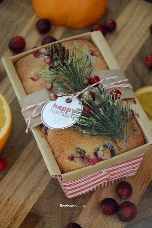 Christmas Bread Gifts  Orange Cranberry Bread The Idea Room
