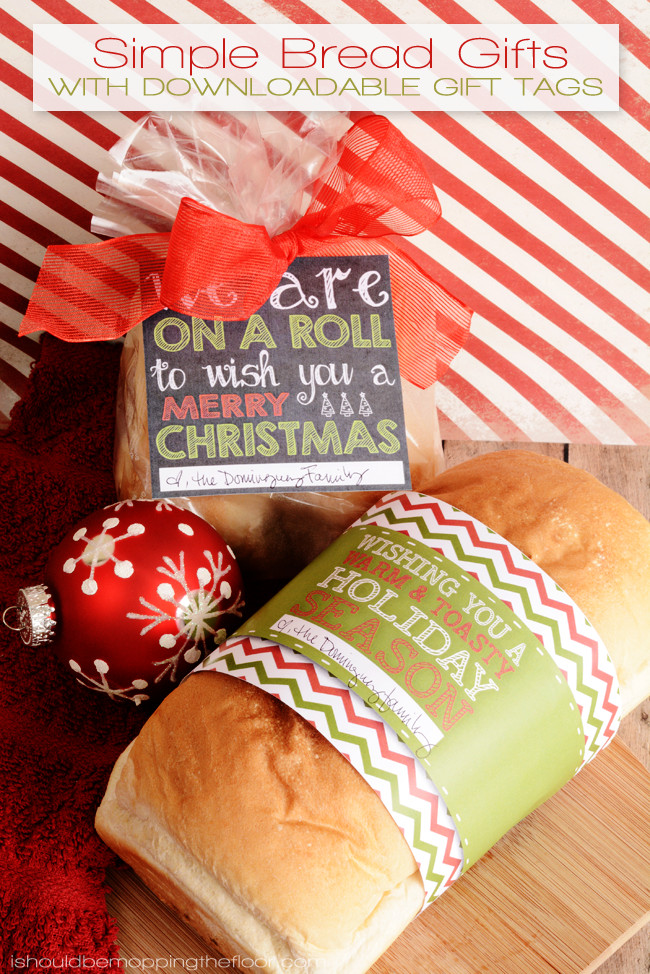 Christmas Bread Gifts  i should be mopping the floor Simple Bread Gifts with