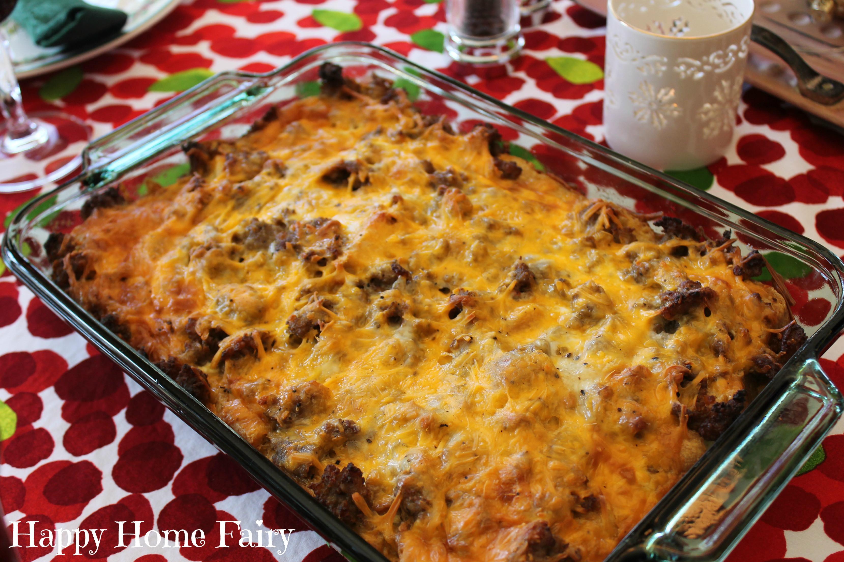 Christmas Breakfast Casserole Recipes  Recipe Christmas Morning Breakfast Casserole Happy