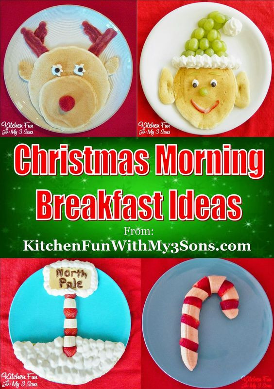 Christmas Breakfast For Kids  Christmas Santa Pancakes Kitchen Fun With My 3 Sons