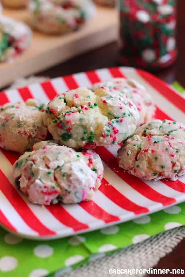 Christmas Butter Cookies  Christmas Gooey Butter Cookies