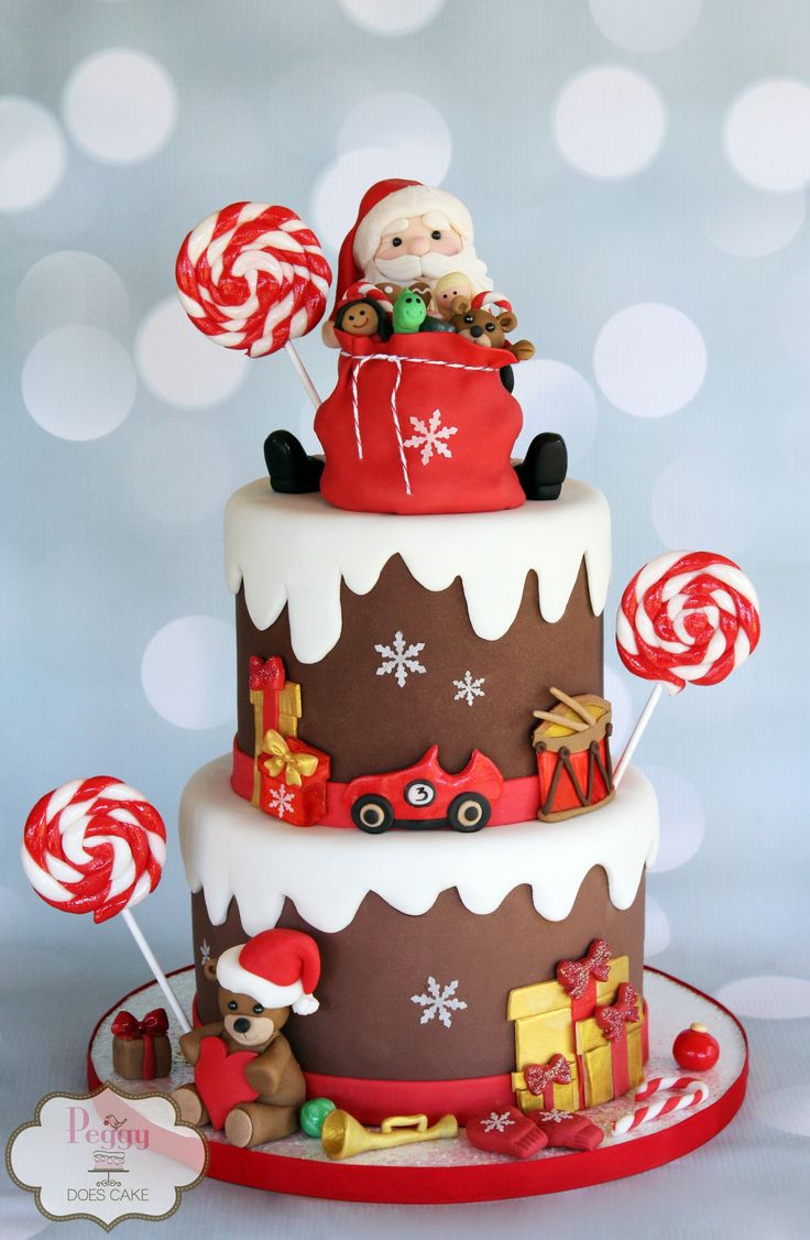 Christmas Cakes Pinterest  1000 ideas about Santa Cake on Pinterest