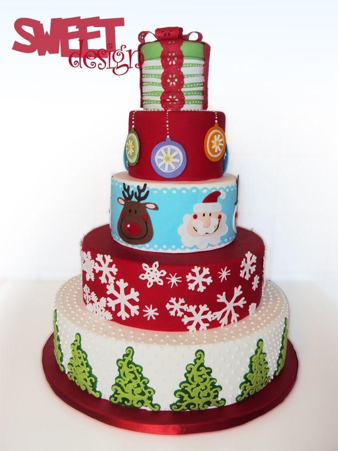 Christmas Cakes Pinterest  25 best ideas about Cricut cake on Pinterest