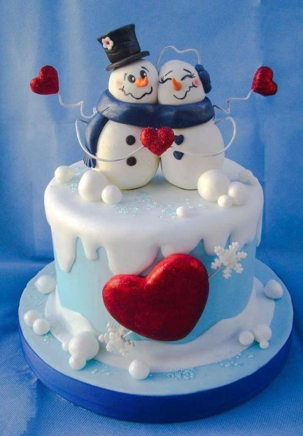 Christmas Cakes Pinterest  3843 best Christmas Winter Cakes images on Pinterest