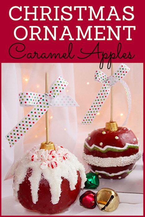 Christmas Candy Apple Ideas  Christmas Ornament Caramel Apples Desserts