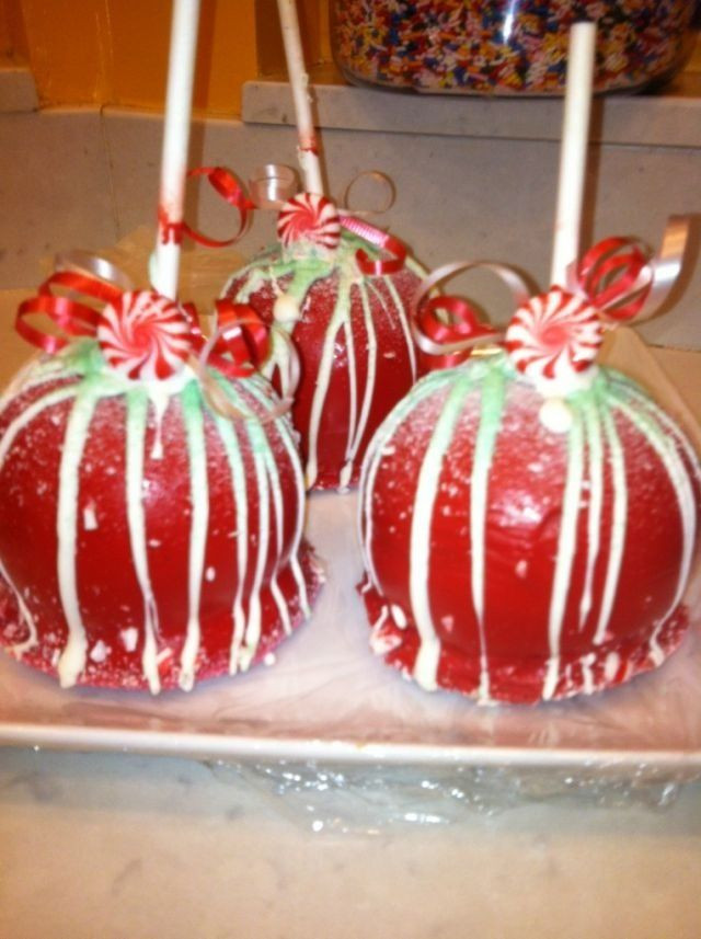 Christmas Candy Apple Ideas  Christmas caramel apples Christmas Treats